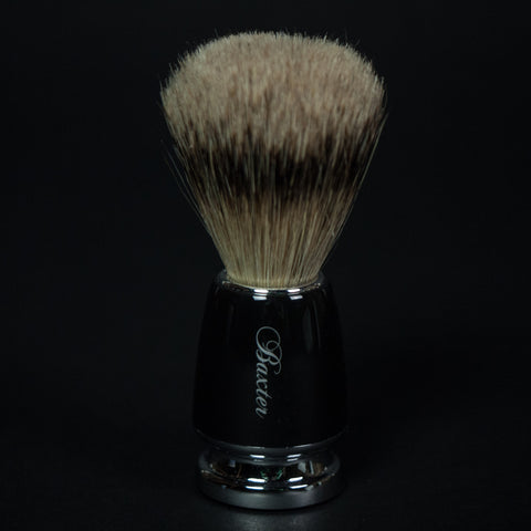 BAXTER SILVER TIP BADGER BRUSH - THE LODGE  - 1