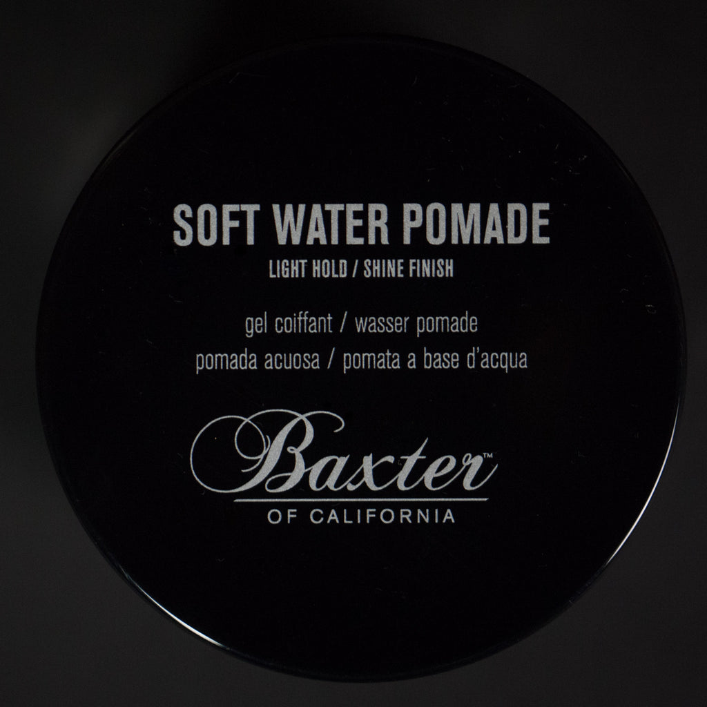 BAXTER SOFT WATER POMADE- LIGHT HOLD / SHINE FINISH - THE LODGE  - 1