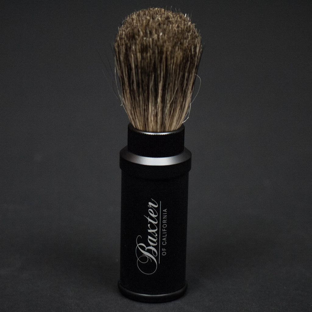 Baxter of California Aluminum Travel Shave Brush at The Lodge