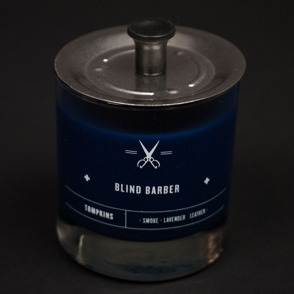 TOMPKINS CANDLE BLIND BARBER 6 OZ