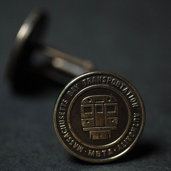 VINTAGE BOSTON TRANSIT TOKEN CUFFLINKS - THE LODGE  - 1