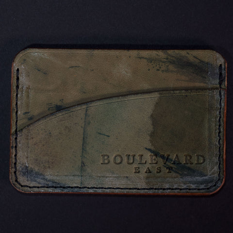 Boulevard East Reverse Cordovan Card Wallet at The Lodge