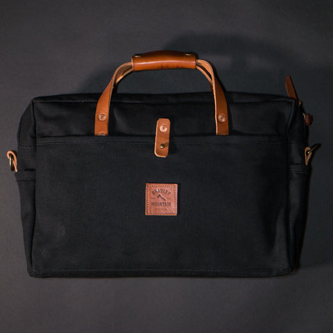 Bradley Mountain Courier Briefcase Waxed Canvas Black at The Lodge