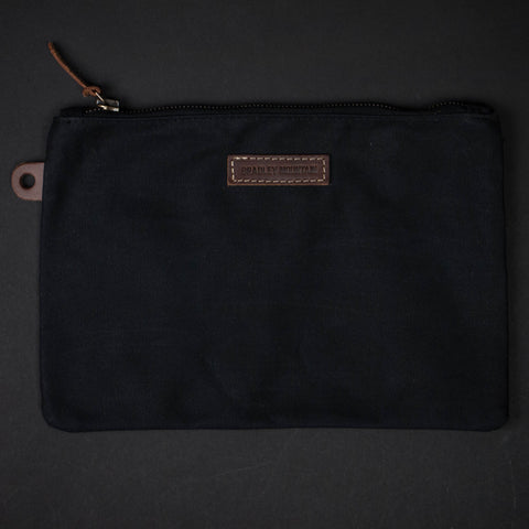 Bradley Mountain Black Waxed Folio Zip Pouch at The Lodge
