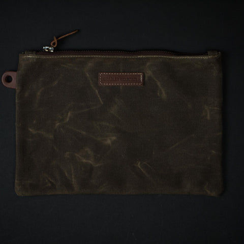 Bradley Mountain Field Tan Waxed Canvas Folio at The Lodge