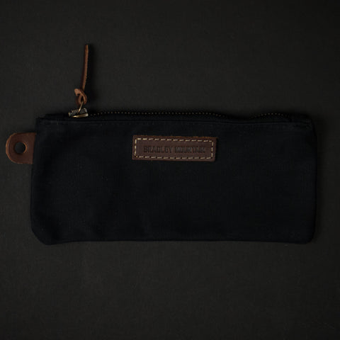 Bradley Mountain Black Waxed Pencil Zip Pouch