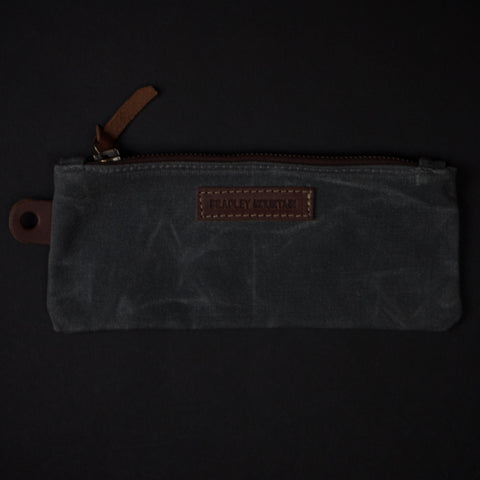 Bradley Mountain Charcoal Waxed Zip Pen Organizer at The Lodge