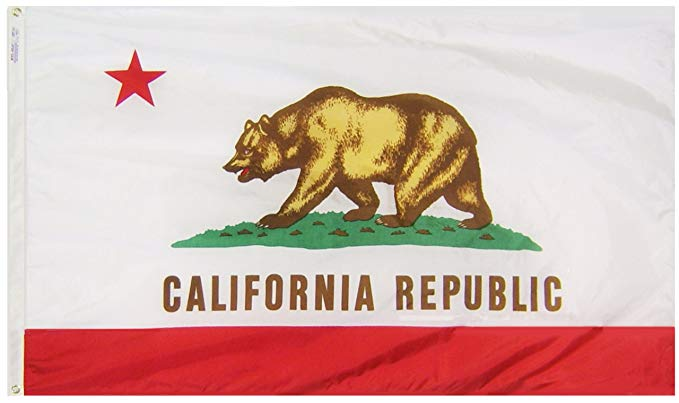 CALIFORNIA FLAG 3FT BY 5 FT NYLON