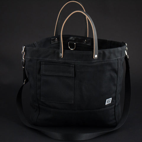 CHESTER WALLACE DRIVER TOTE BLACK - THE LODGE  - 1