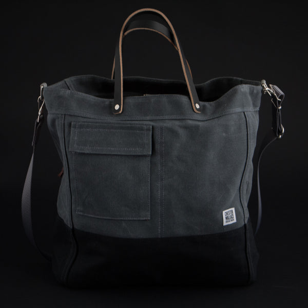 CHESTER WALLACE DRIVER TOTE GREY - THE LODGE  - 1