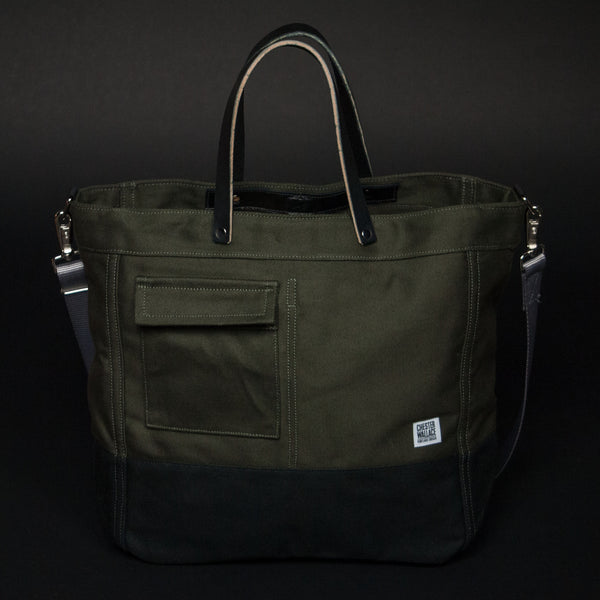 CHESTER WALLACE DRIVER TOTE OLIVE - THE LODGE  - 1