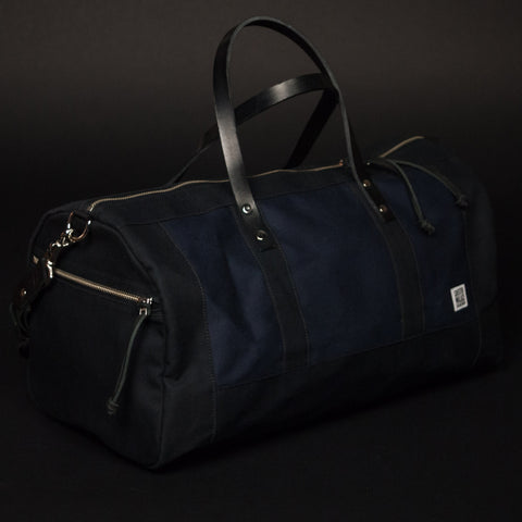 CHESTER WALLACE DUFFEL BAG NAVY - THE LODGE  - 1