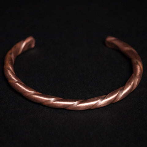 TWISTED COPPER BAR CUFF - THE LODGE  - 1