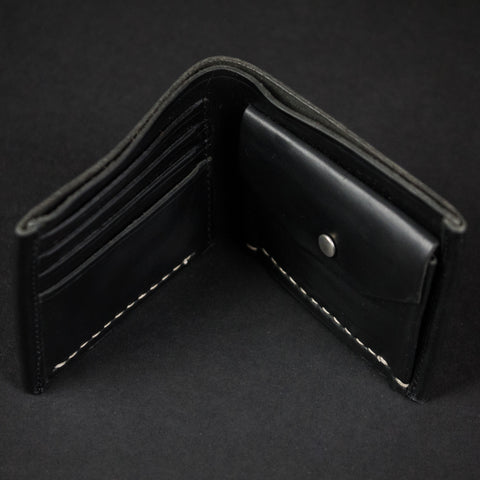 BLACK CORONADO COIN BILLFOLD HORWEEN LEATHER - THE LODGE  - 1