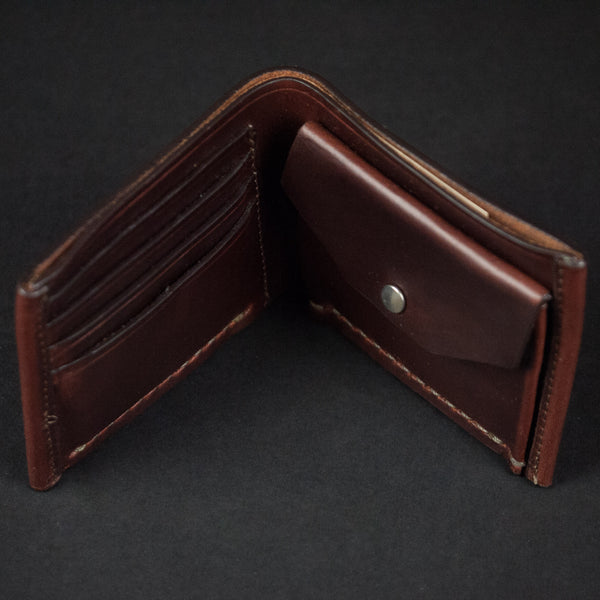 BROWN CORONADO COIN BILLFOLD HORWEEN LEATHER - THE LODGE  - 1