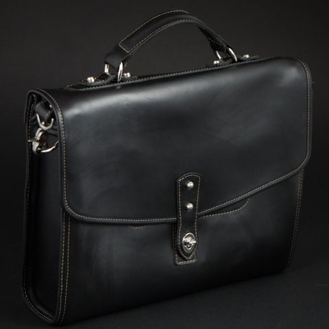 CORONADO BUSINESS BRIEF BLACK HORWEEN LEATHER - THE LODGE  - 1