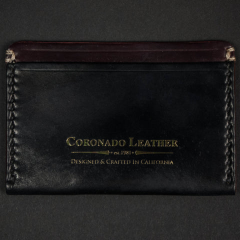 CORONADO BLACK/CORDOVAN SLIM CREDIT CARD WALLET - THE LODGE  - 1