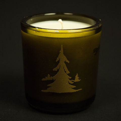 CHRISTMAS ON CEDAR RUN TARTAN CANDLE - THE LODGE  - 1