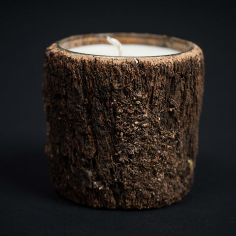 WHISKEY RIVER BARK WRAPPED CANDLE - THE LODGE  - 1