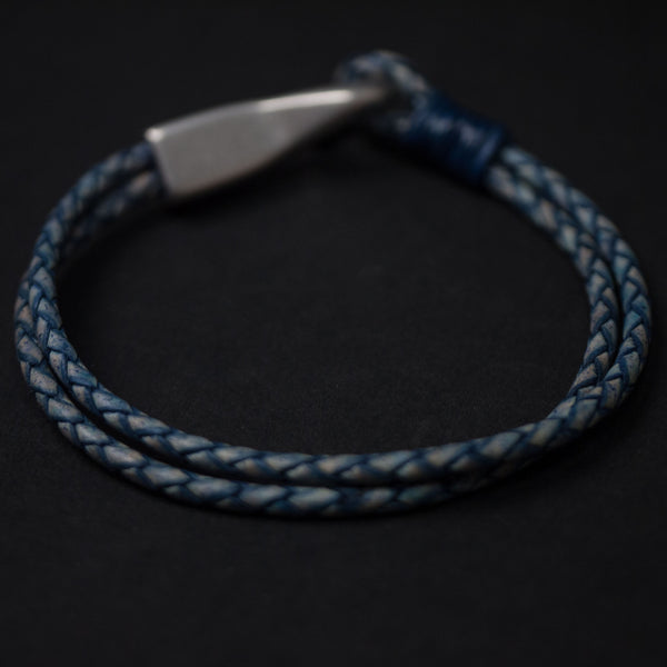 Caputo & Co Braided Leather Big Hook Bracelet at The Lodge