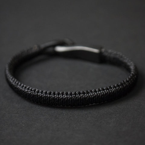 Caputo Black Big Hook Saybrook Woven Bracelet at The Lodge