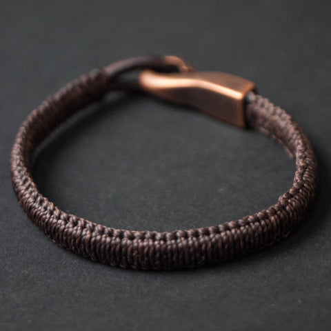 Caputo & Co Brown Saybrook Woven Big Hook Bracelet at The Lodge