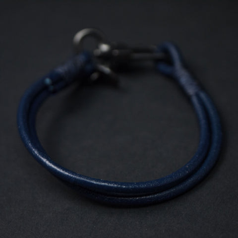 Caputo Navy Craftsman Leather Bracelet at The Lodge
