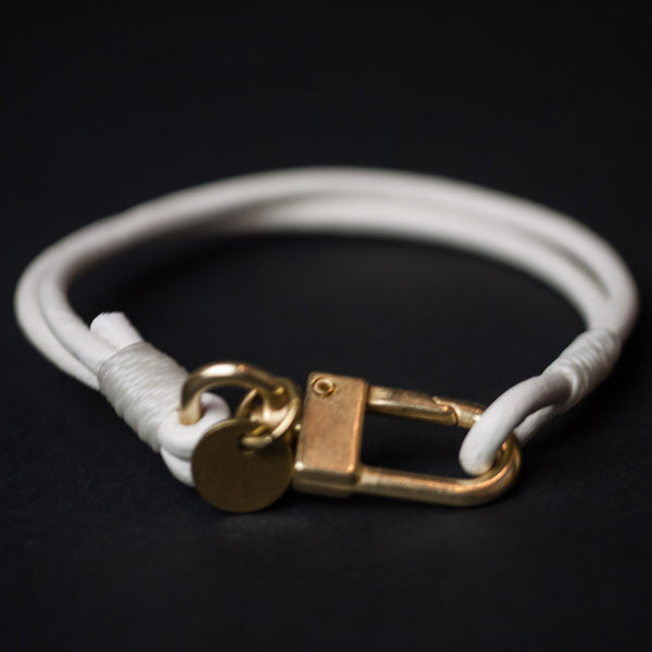 CAPUTO WHITE CRAFTSMAN LEATHER BRACELET - THE LODGE  - 1