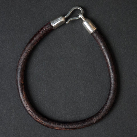 Caputo Brown Corded Leather Bracelet at The Lodge