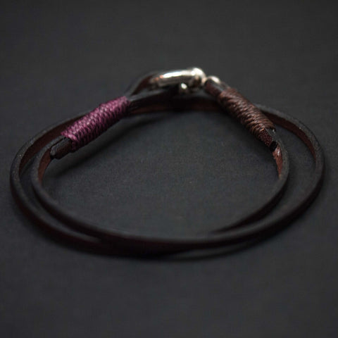 Caputo Brown Leather Double Wrap Bracelet at The Lodge