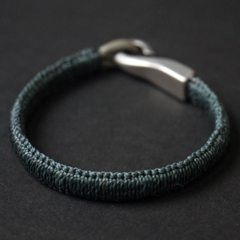 Caputo & Co Grey Saybrook Woven Big Hook Bracelet at The Lodge
