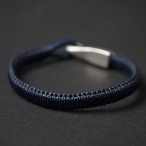 Caputo Navy Saybrook Big Hook Woven Bracelet at The Lodge