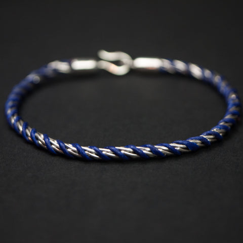 Caputo & Co Silver Rope Chain Bracelet at The Lodge
