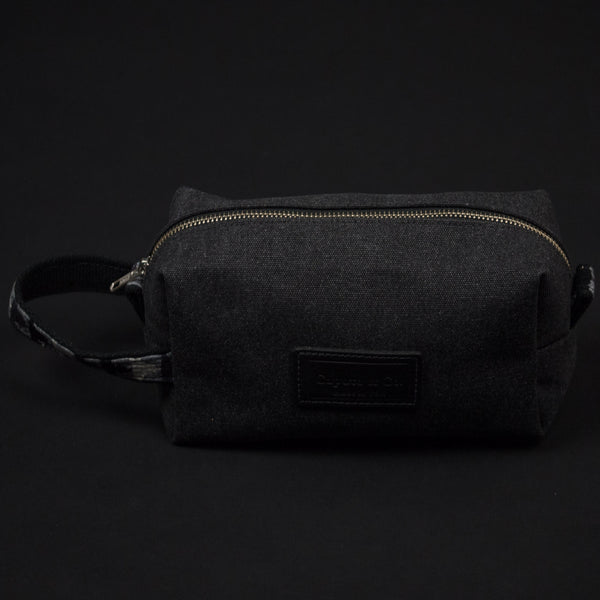 Caputo Soho Dopp Kit Charcoal- Made in USA