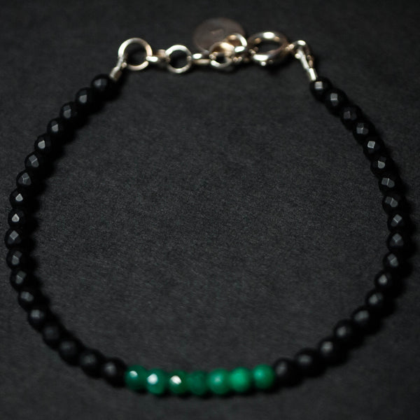 CAPUTO BLACK ONYX EMERALD BRACELET - THE LODGE  - 1