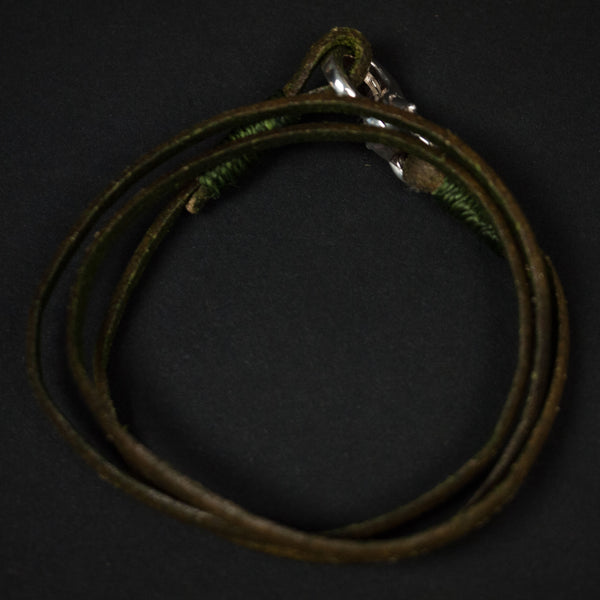 Caputo Triple Wrap Leather Bracelet Olive at The Lodge