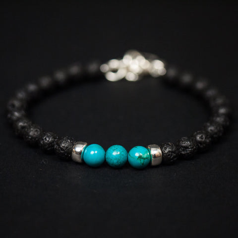Caputo Turquoise & Sterling Silver Ubud Bracelet at The Lodge