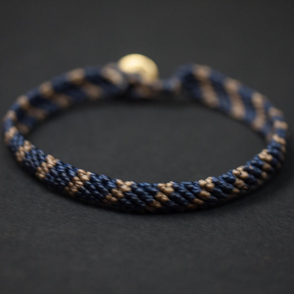 Caputo Wainscott Knotted Bracelet Navy/Brown at The Lodge