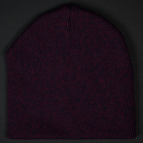 CASCADES RIB KNIT MARLED HAT BURGANDY - THE LODGE  - 1
