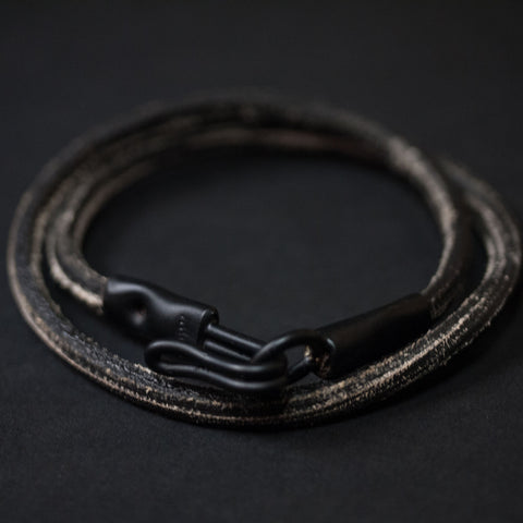 The Ace Black/Black Double Wrap Bracelet at The Lodge