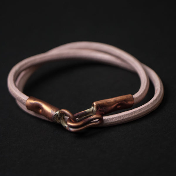 The Ace Double Wrap Bracelet Millennial Pink at The Lodge