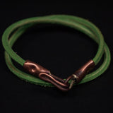 THE ACE GREEN DOUBLE WRAP LEATHER BRACELET