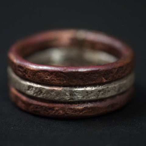 Cause & Effect Acton Copper & Sterling Silver Men's Ring at The Lodge