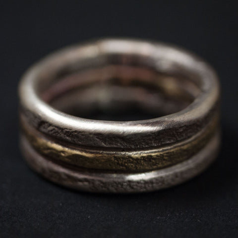Cause & Effect Acton Sterling Silver & Brass Men's Ring at The Lodge