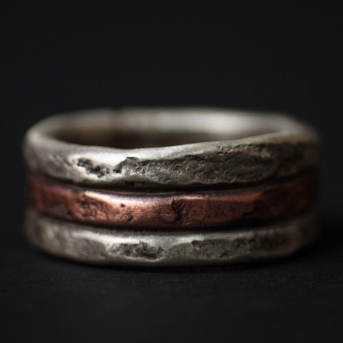 Cause & Effect Acton Sterling Silver and Copper Men's Ring at The Lodge