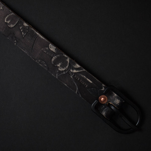 Cause & Effect Black Dogwood Leather Belt at The Lodge