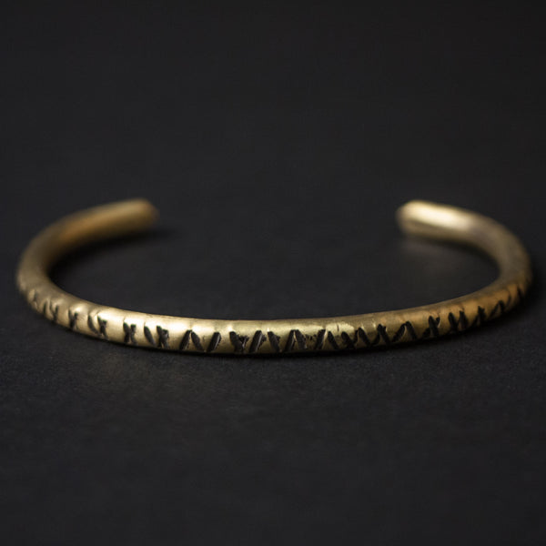 Cause & Effect Brass Notches Metal Bracelet at The Lodge