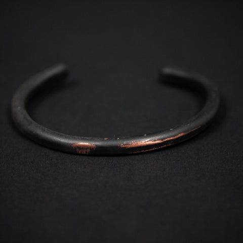 DISTRESSED BLACK THIN COPPER BAR CUFF - THE LODGE  - 1