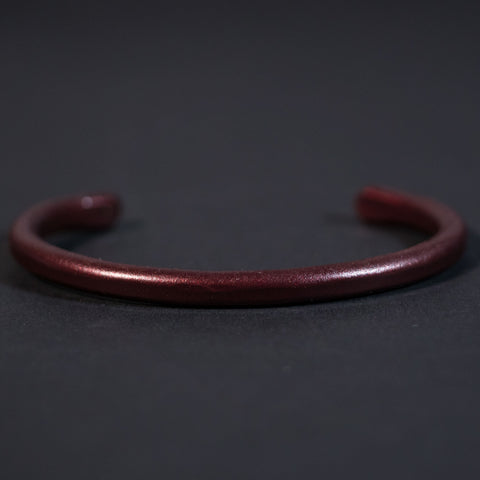 BURGANDY DISTRESSED COPPER BAR CUFF BRACELET