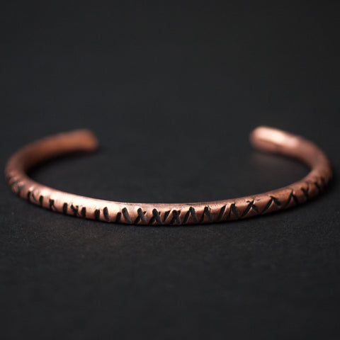 Cause & Effect Copper Notches Bracelet at The Lodge